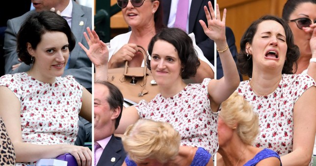 Phoebe Waller-Bridge sits in the Royal Box