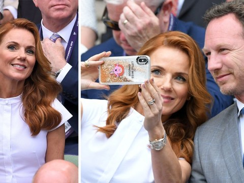 Ginger Spice Geri Horner shows off epic Little Miss Ginger phone case at Wimbledon