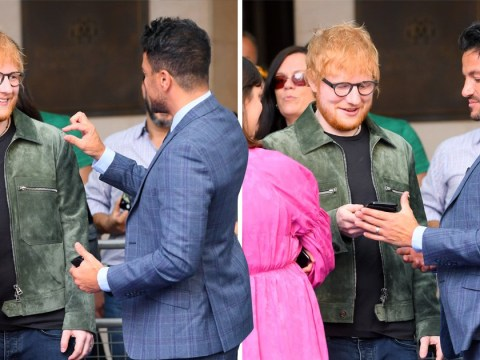 Peter Andre and Ed Sheeran 'swap numbers' leaving us ready for their smash hit duet