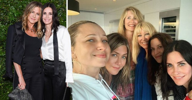 Courteney Cox spends 4th July with Jennifer Aniston