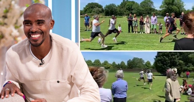 Olympic champion Sir Mo Farah settles for silver at school sports day