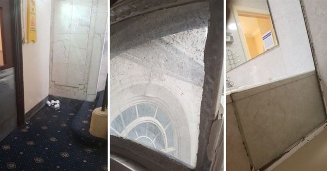 The couple were horrified with their 'executive' room at The Adelphi Hotel in Liverpool (Picture: Liverpool Echo)