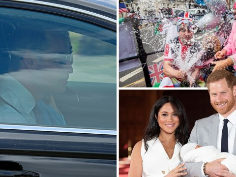 Kate and William arrive at Archie's secretive christening