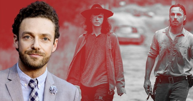 The Walking Dead's Ross Marquand, Rick and Carl