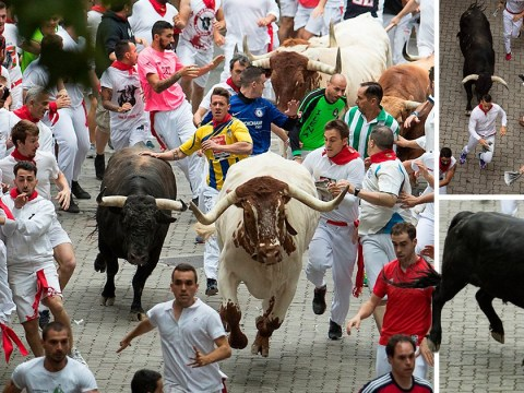Three injured as thousands flood streets for 'cruel' Running of the Bulls festival