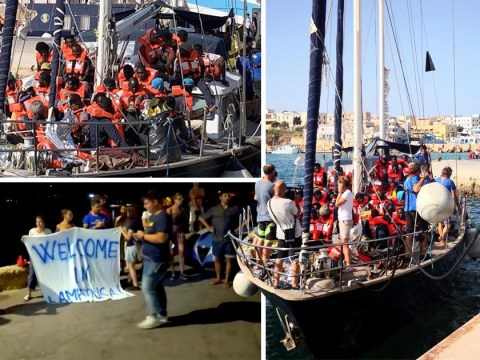 Over 40 migrants allowed off rescue boat in Italy despite ban