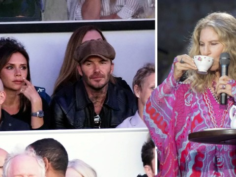 David and Victoria Beckham enjoy date night together watching Barbra Streisand at BST
