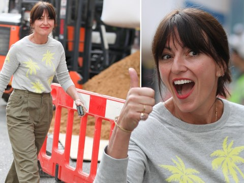 Davina McCall gives the thumbs up after admitting to considering surgery