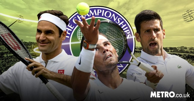 Roger Federer, Rafael Nadal and Novak Djokovic at Wimbledon