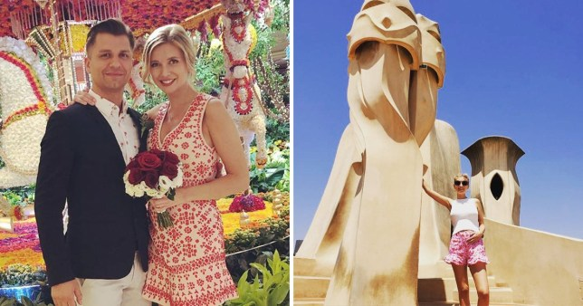 Rachel Riley shares pictures of Barcelona honeymoon after surprise wedding to Strictly's Pasha Kovalev