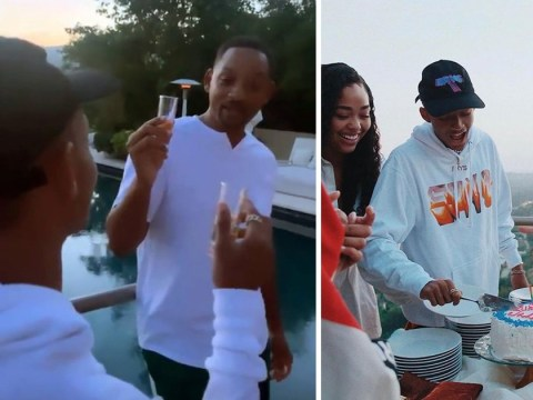 Jordyn Woods captures Will Smith downing tequila shots to celebrate Jaden's 21st birthday