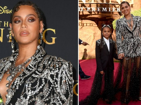 Beyoncé is our queen as she poses with Blue Ivy on The Lion King premiere red carpet