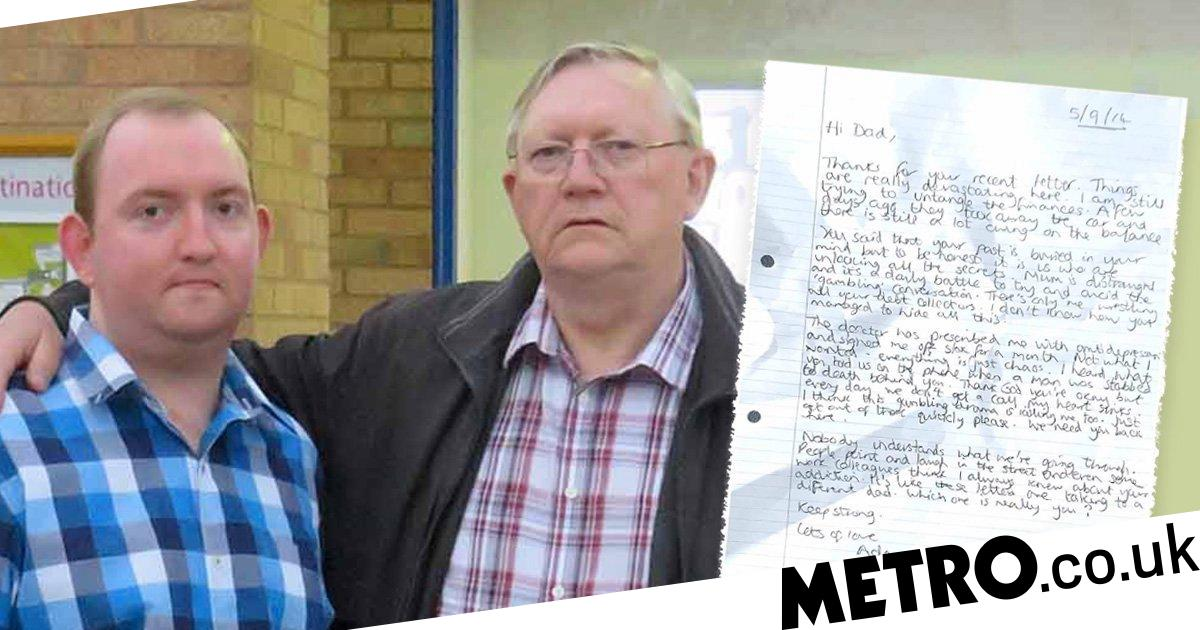 Letters between dad and son reveal true cost of gambling addiction