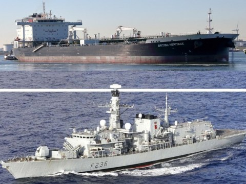 Royal Navy stops armed Iranian boats as they try to seize British oil tanker