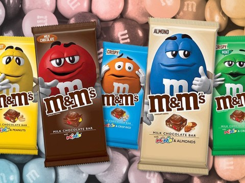 M&M's chocolate bars are coming to the UK this month