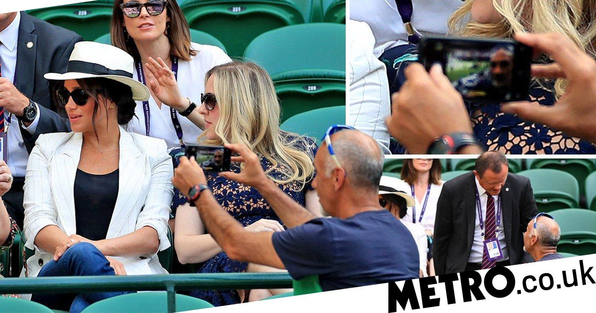 Wimbledon fan told off for Meghan Markle 'selfie' did not know royal was there