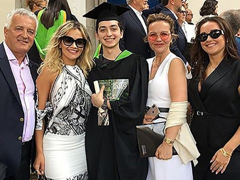 Rita Ora bursts with pride watching little brother graduate from university