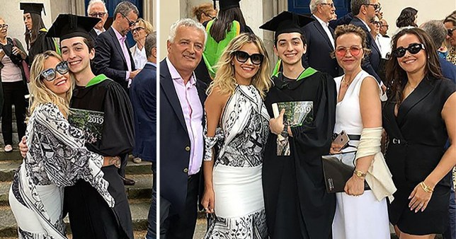 Rita Ora and family at her brother's graduation