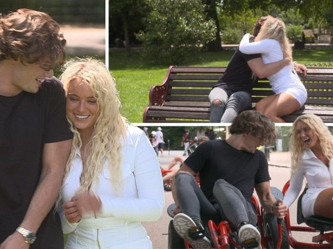 Love Island's Lucie Donlan and Joe Garratt look loved-up as they reunite amid Tommy Fury drama