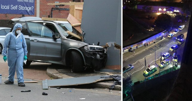 Five arrested after car deliberately drove into group of people