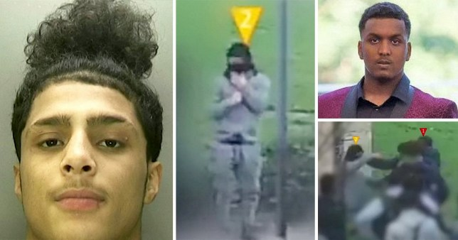 Laoui Ali, 17, was filmed calmly riding the bus then waiting for his victim Sidali Mohamed, 16