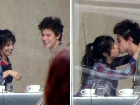 Pictured: Camila Cabello and Shawn Mendes kiss and look close on casual coffee date amid romance rumours