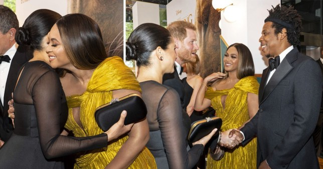 Meghan Markle, Prince Harry, Beyonce and Jay Z at The Lion King premiere