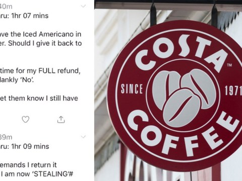 Customer holds up Costa Coffee drive-thru for over an hour over 50p