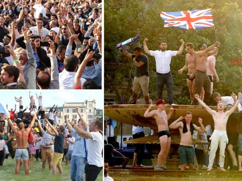 England fans go wild in the streets over first Cricket World Cup win