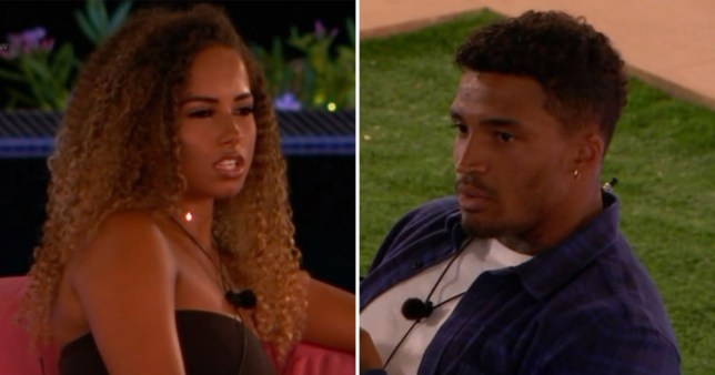 Love Island's Michael Griffiths 'commands' Amber Gill to 'sit down' and viewers are raging