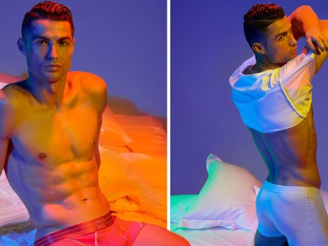 Cristiano Ronaldo channels inner Derek Zoolander as he models new CR7 underwear collection