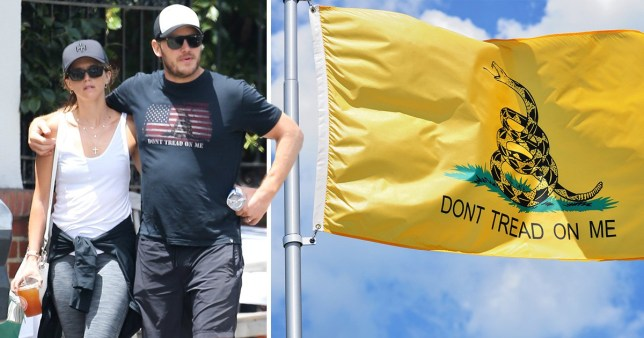 Chris Pratt under fire for wearing flag T-shirt adopted by far-right political groups