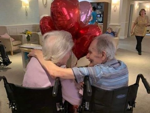 Terminally ill man, 90, granted dying wish of 'last kiss' with wife