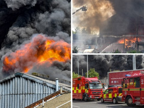 Major fire at factory in Birmingham