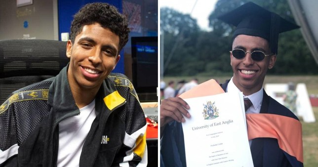 Picture, the English and creative writing student rapped his dissertation and received a first-class degree