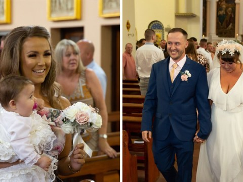 Couple surprised guests at their daughter's christening – by getting married as well