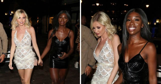 Amy Hart and Yewande Biala from Love Island
