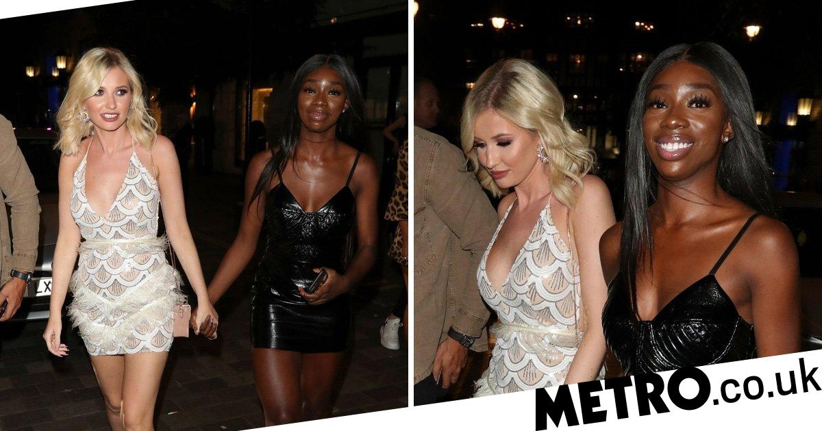 Love Island Amy Hart Yewande Biala Hold Hands On Night Out