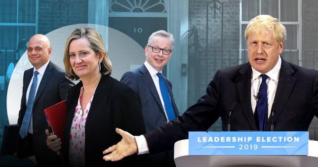 Amber Rudd, Michael Gove, Sajid Javid and Boris Johnson
