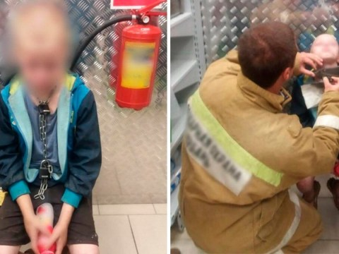 Boy, 10, runs into shop with chain round his neck after escaping dad's house