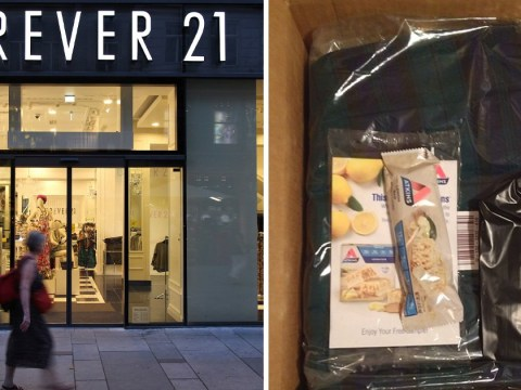 People are slamming Forever 21 for sending out Atkins diet snack bars with clothes