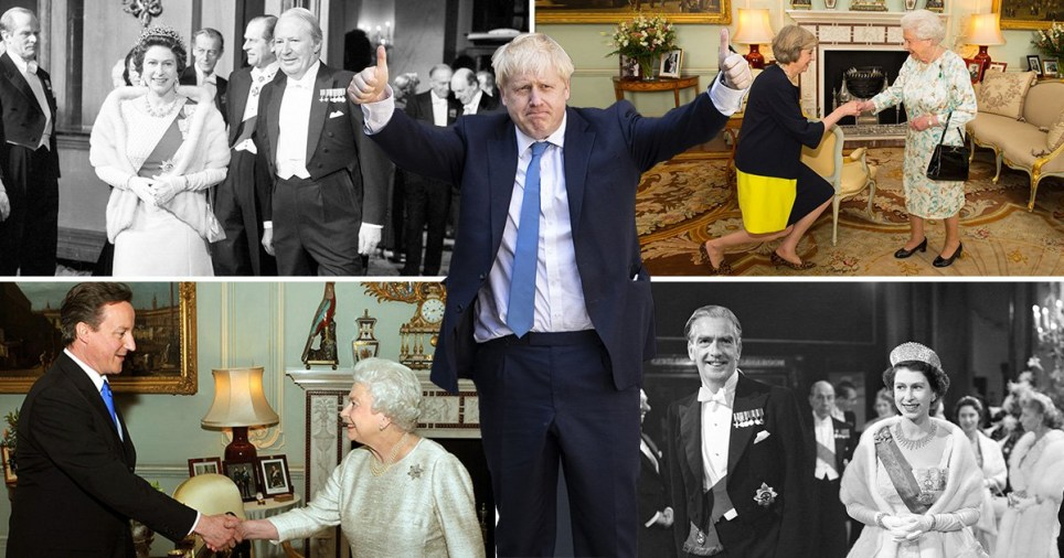 Boris Johnson will become the 14th prime minister to meet the Queen