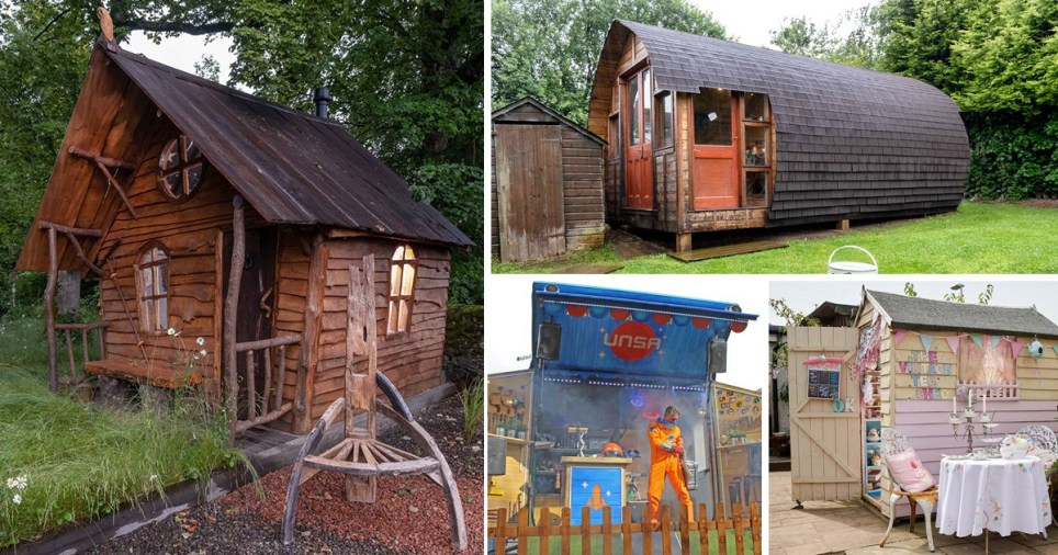 Some of the finalists in the shed of the year competition
