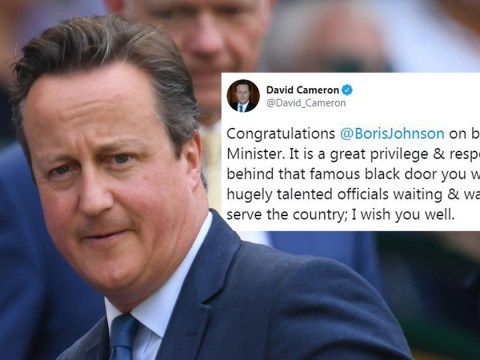David Cameron finally congratulates Boris Johnson publicly