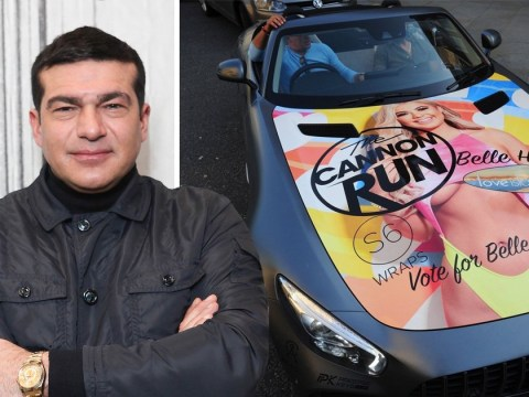 Love Island star Belle Hassan's dad Tamer drives extra AF Mercedes with her face on it and it's oddly sweet