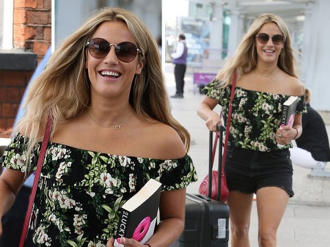 Caroline Flack is ready for the Love Island final as she jets off to Mallorca