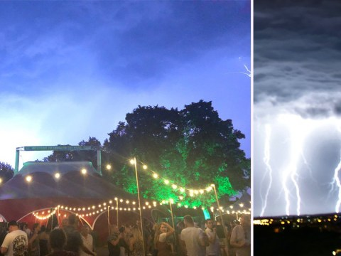 Comedy festival evacuated as 'moonson' rain wipes out power