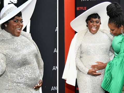 Pregnant Danielle Brooks is glowing goddess as she shows off her bump at Orange Is The New Black premiere