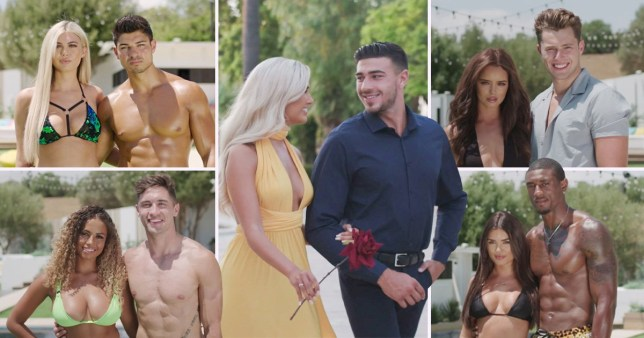 Collage of the remaining couples from Love Island