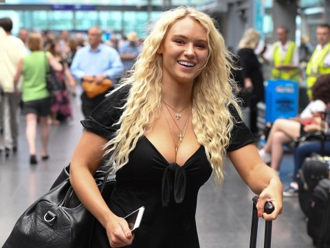 Love Island's Lucie Donlan is all smiles in Manchester as the series approaches final